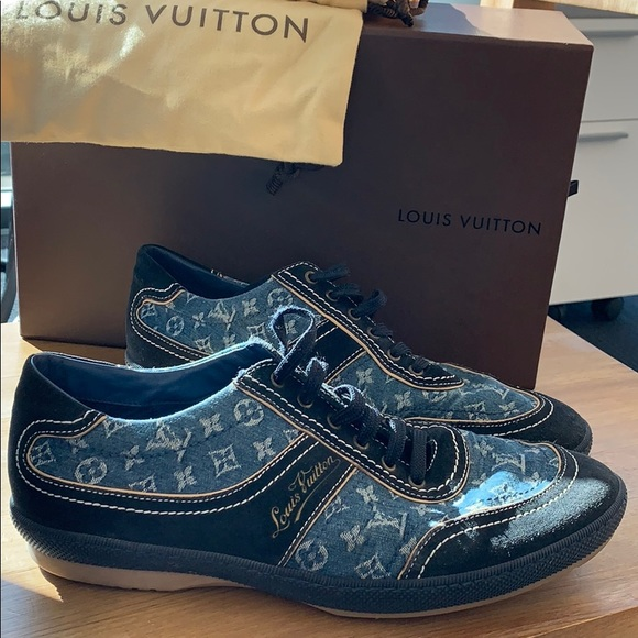 ad4ceaa7099 Men's Louis Vuitton Denim Sneakers